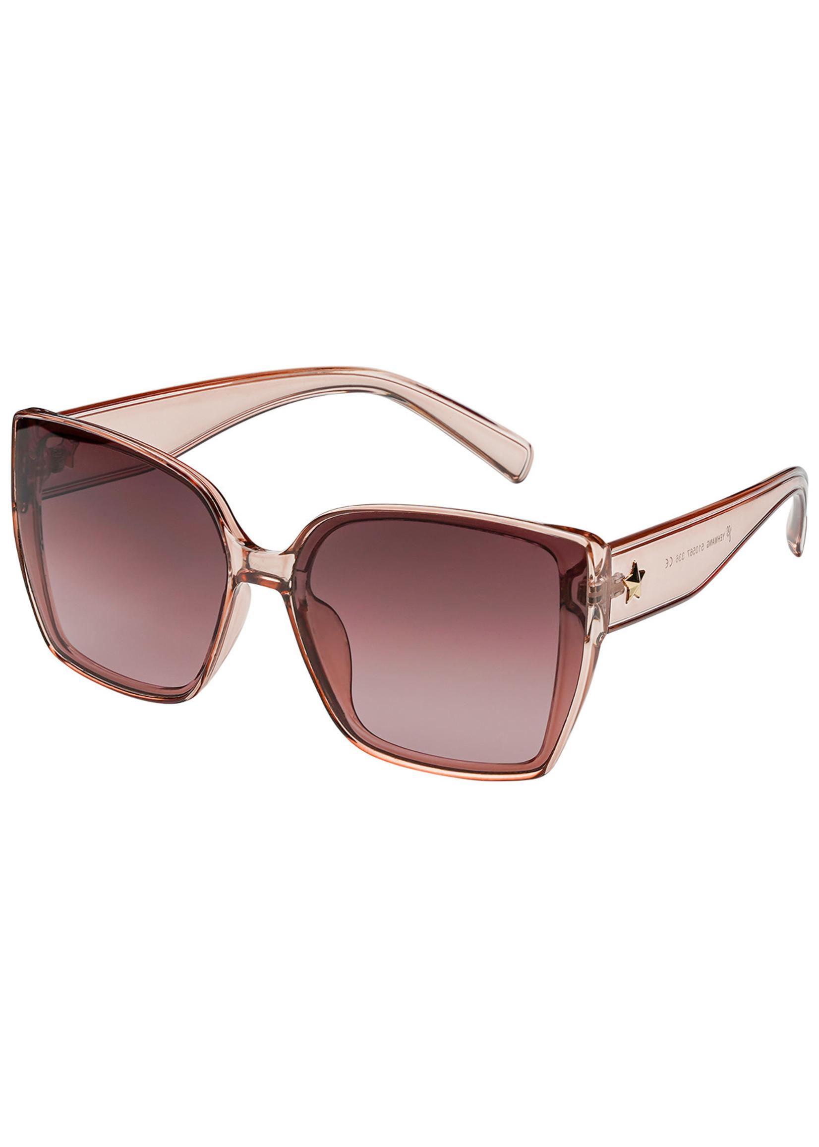 Ladybugs Vierkante zonnebril ster Pink