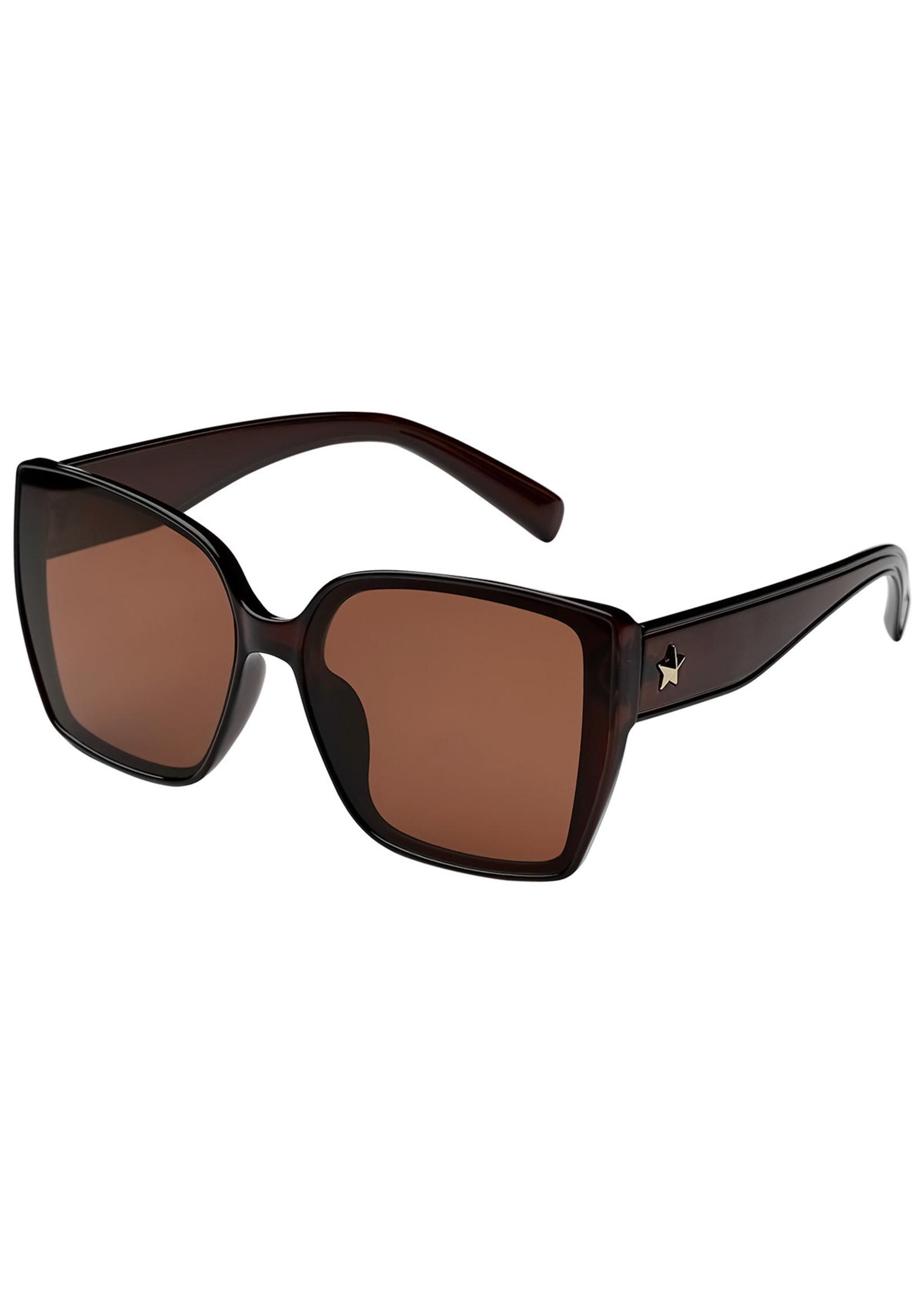 Ladybugs Vierkante zonnebril ster Camel