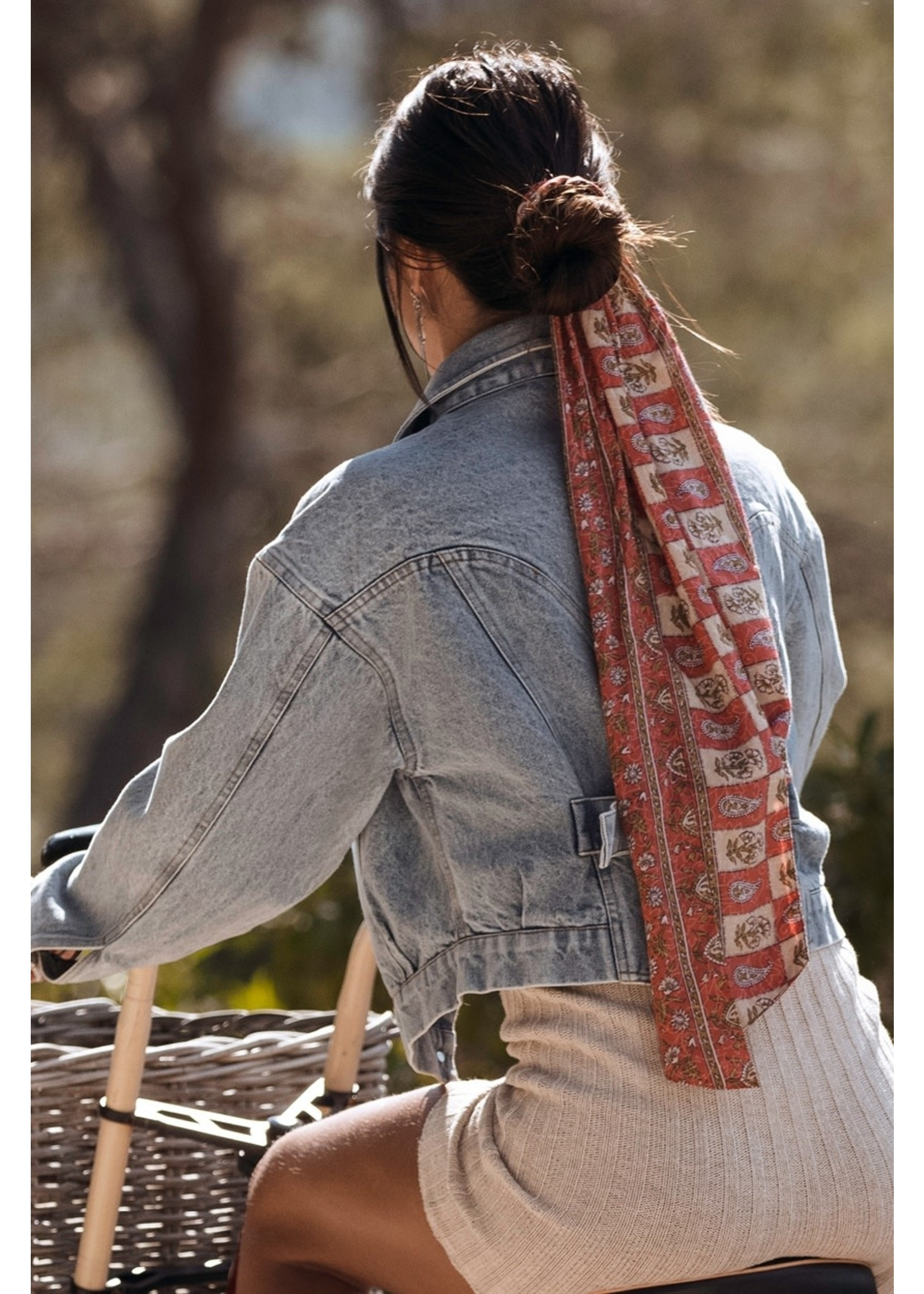 Moost Wanted ANAROSA SCARF WASHED RED FLOWER