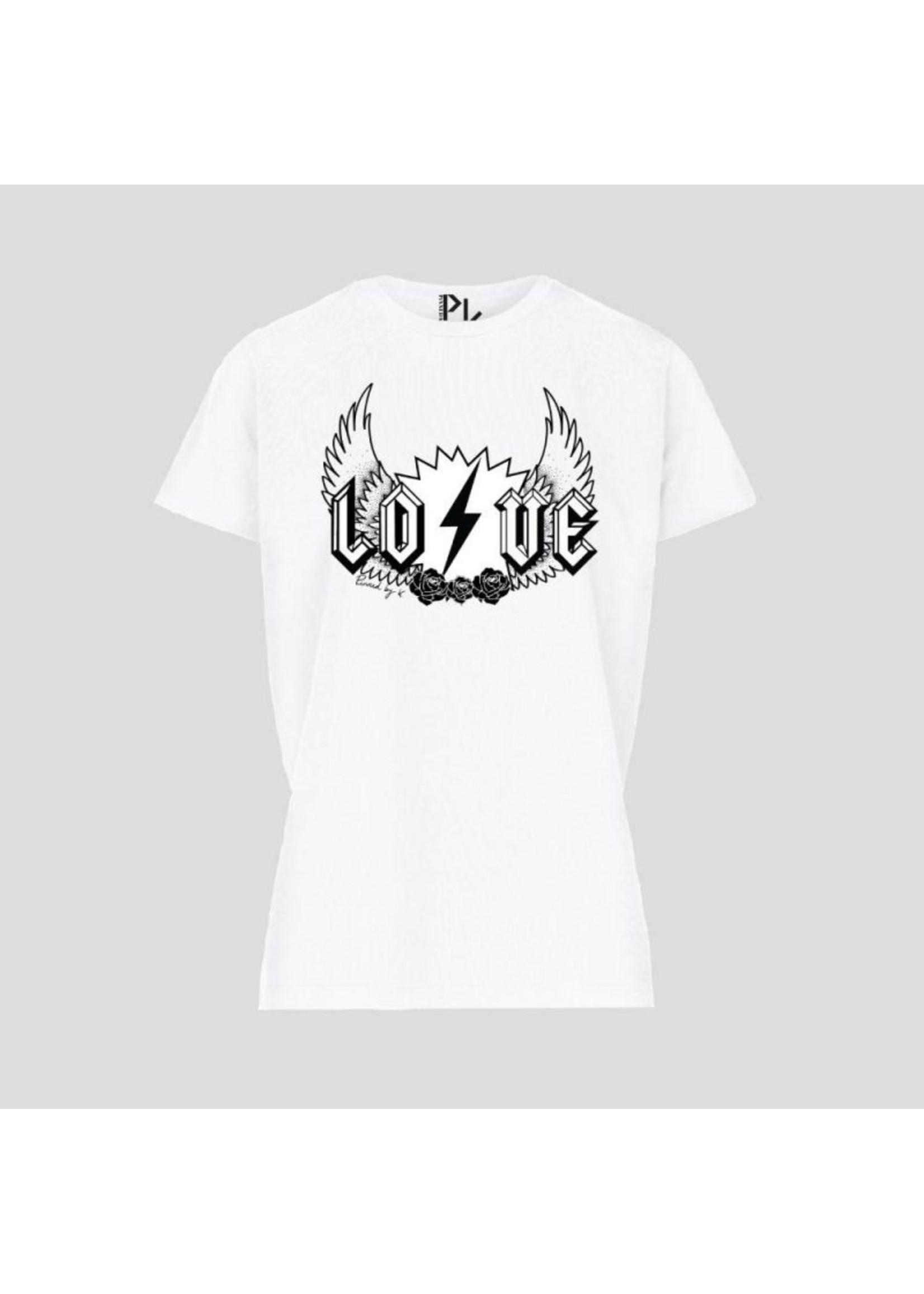 Pinned by K T-shirt white love WHITE