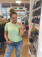 Pinned by K T-shirt xoxo LIME GREEN