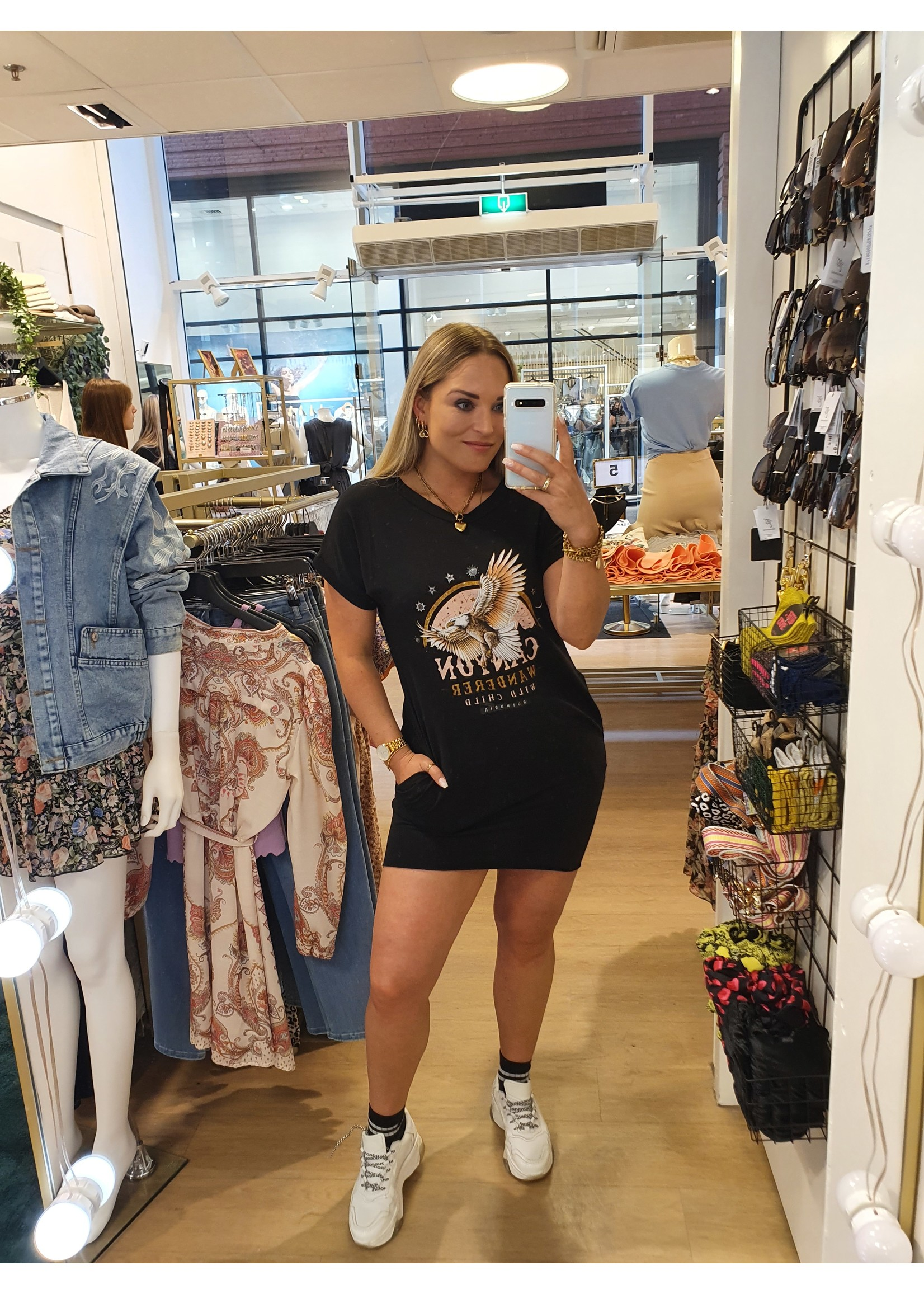Ladybugs Shirt dress Sharon ZWART