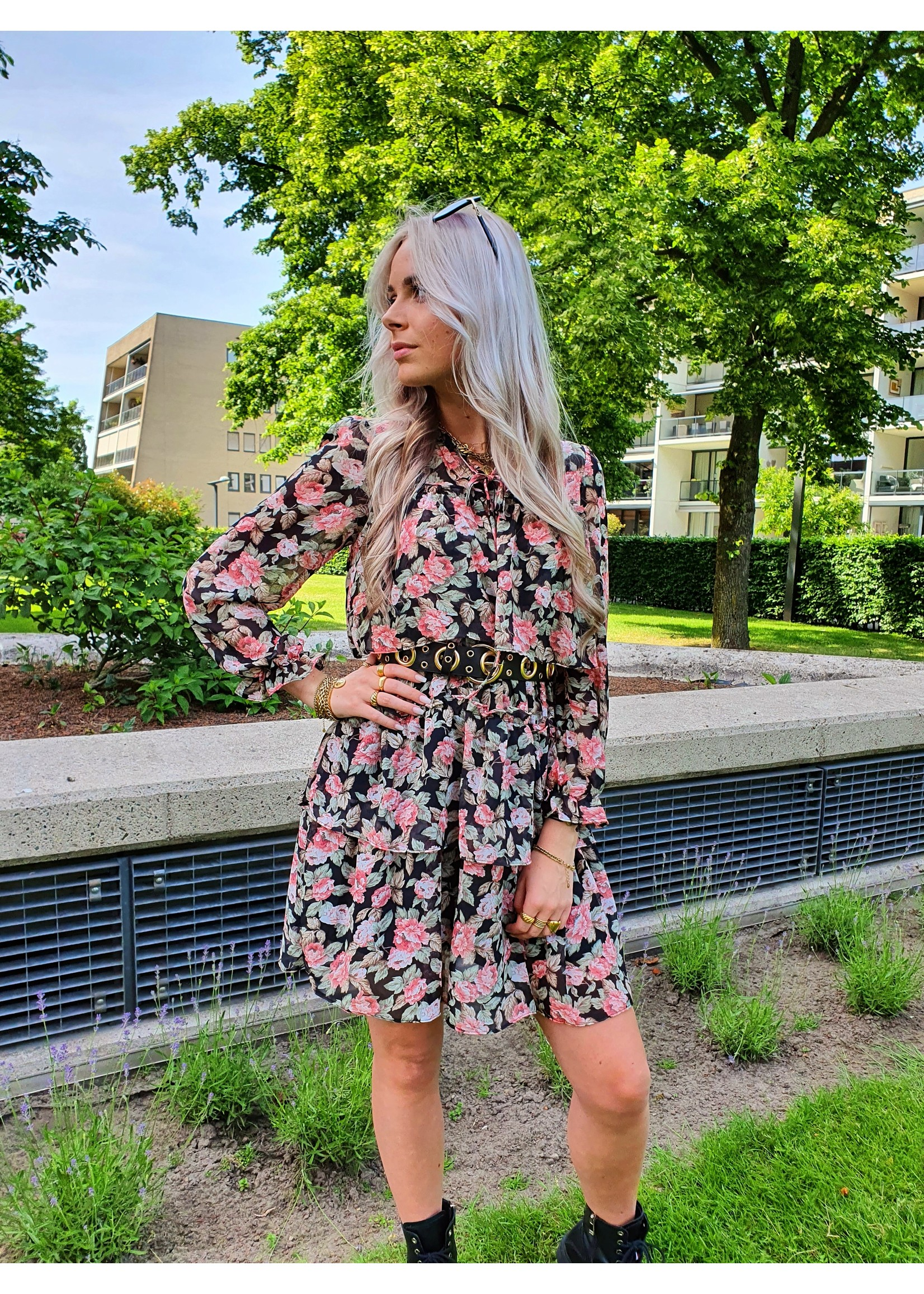 Ladybugs Ruffel jurk ROSE