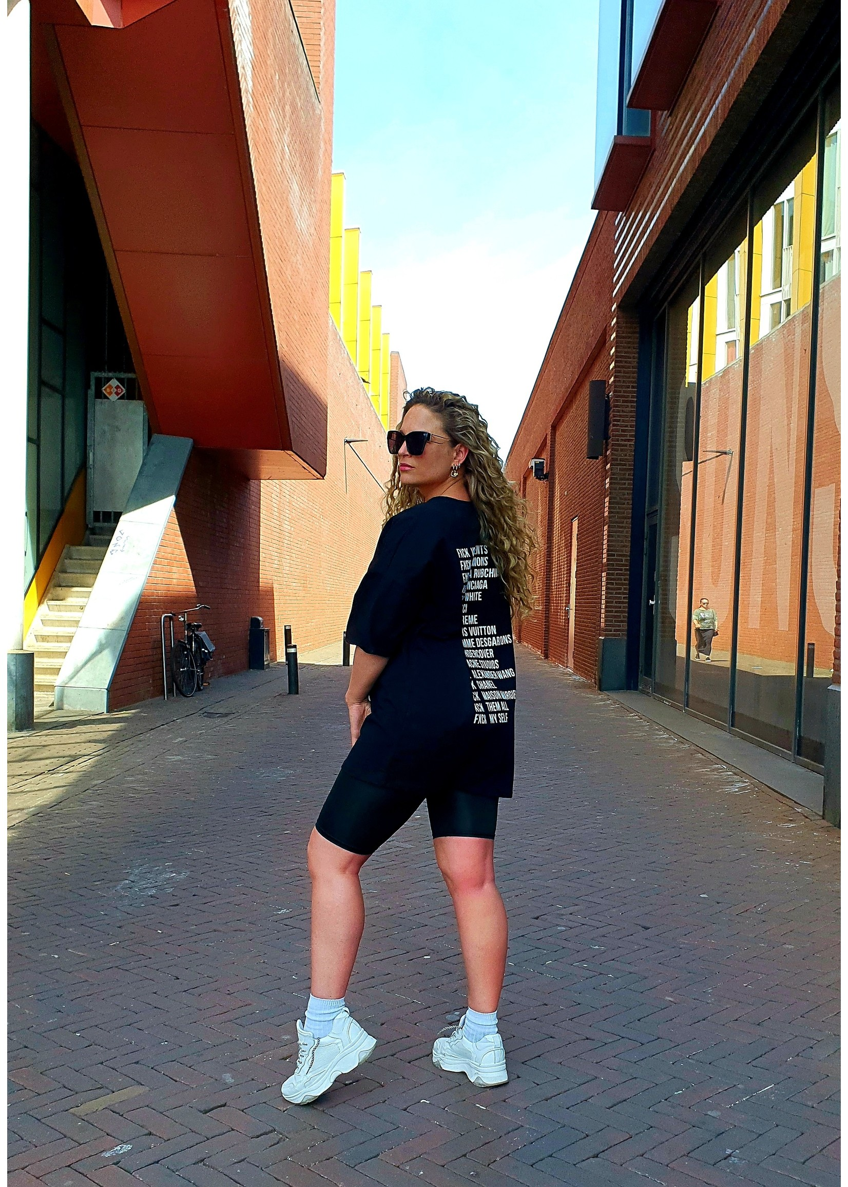 Ladybugs Oversized shirt dress Marlijn ZWART