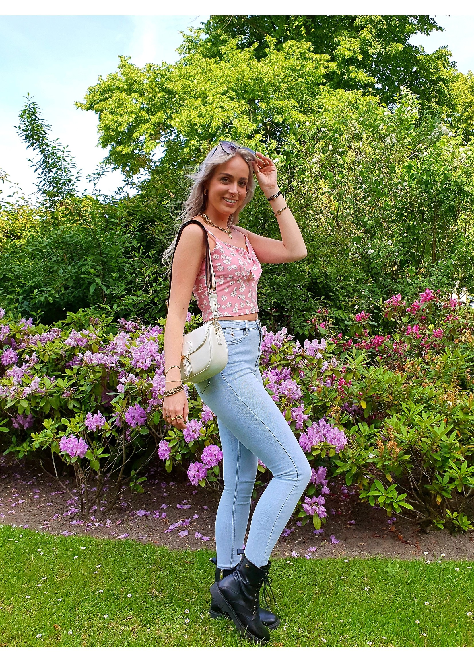 Ladybugs Queen hearts high waist jeans Arom