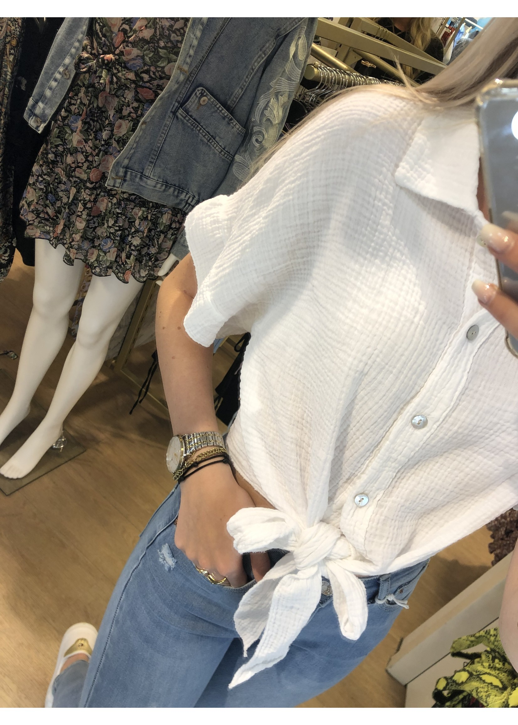Ladybugs Knoop blouse Ella WIT