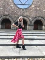 Ladybugs Midi rok Rozen print MARIA