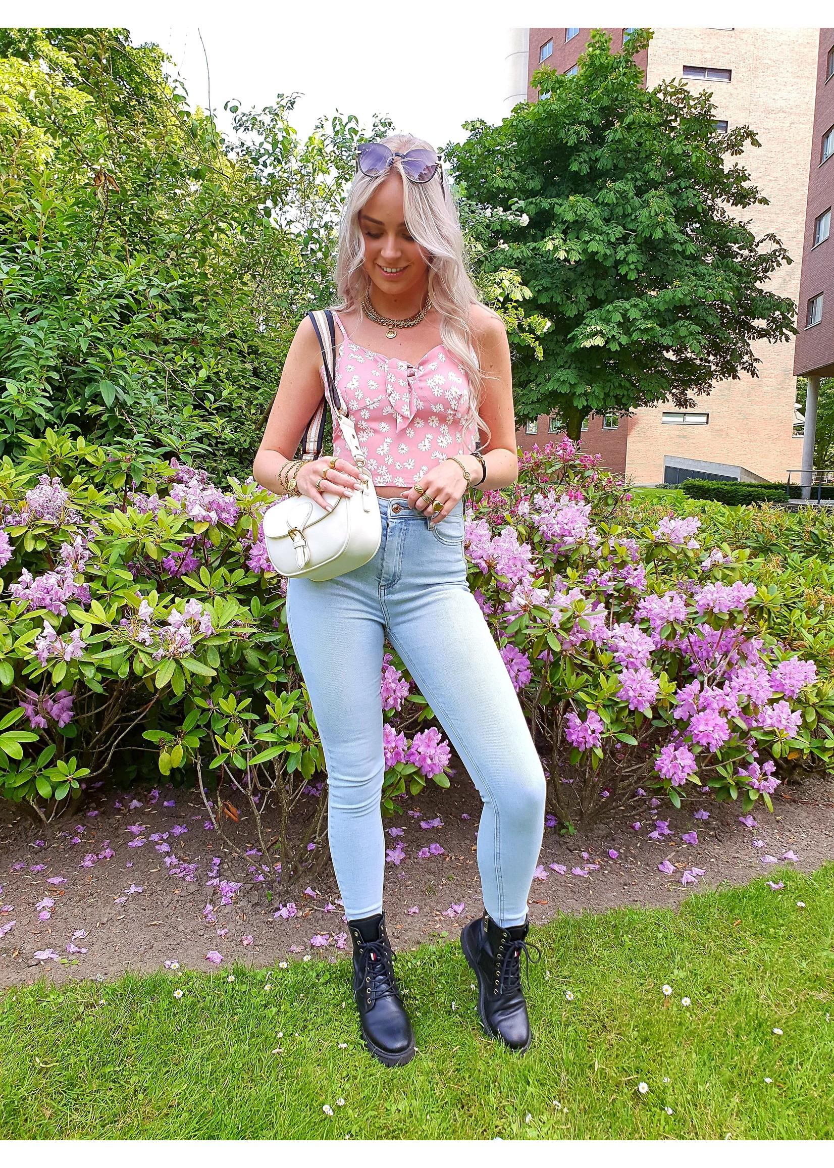 Ladybugs Queen hearts high waist jeans Arom LICHT DENIM