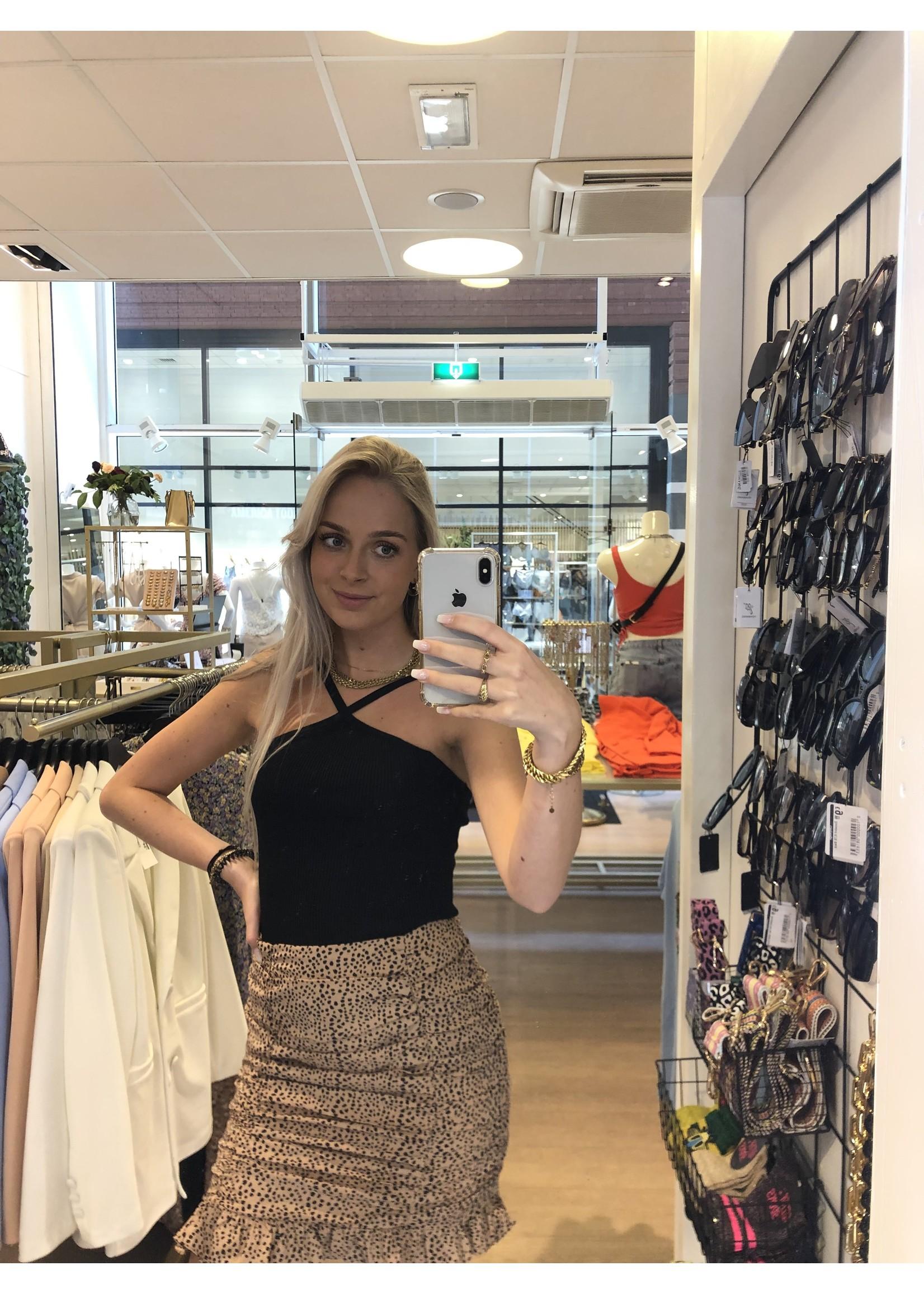 Ladybugs Kruis top Charlot ZWART
