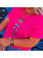 Ladybugs Eyes shirt ROZE