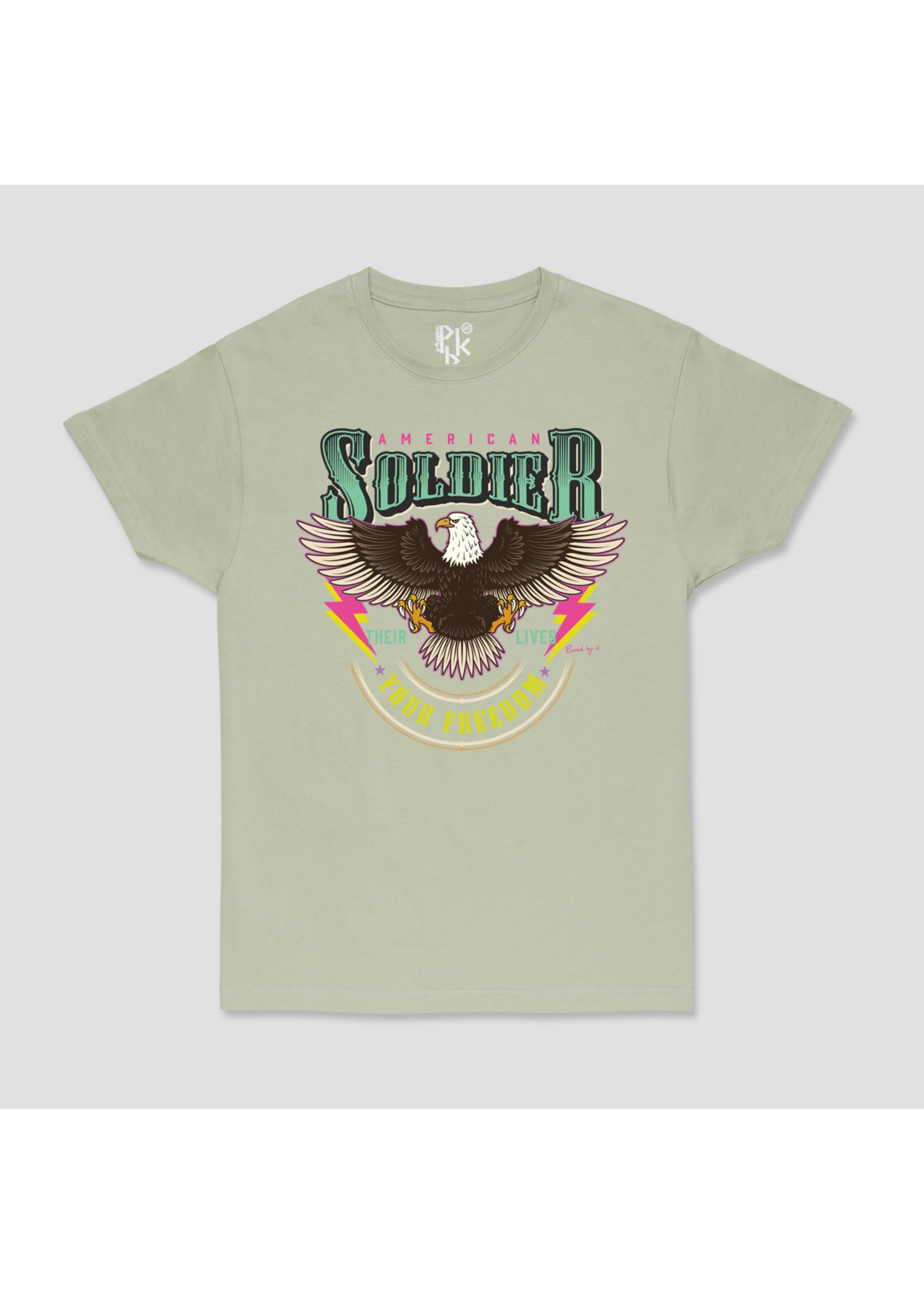 Ladybugs Soldier shirt PISTACHE