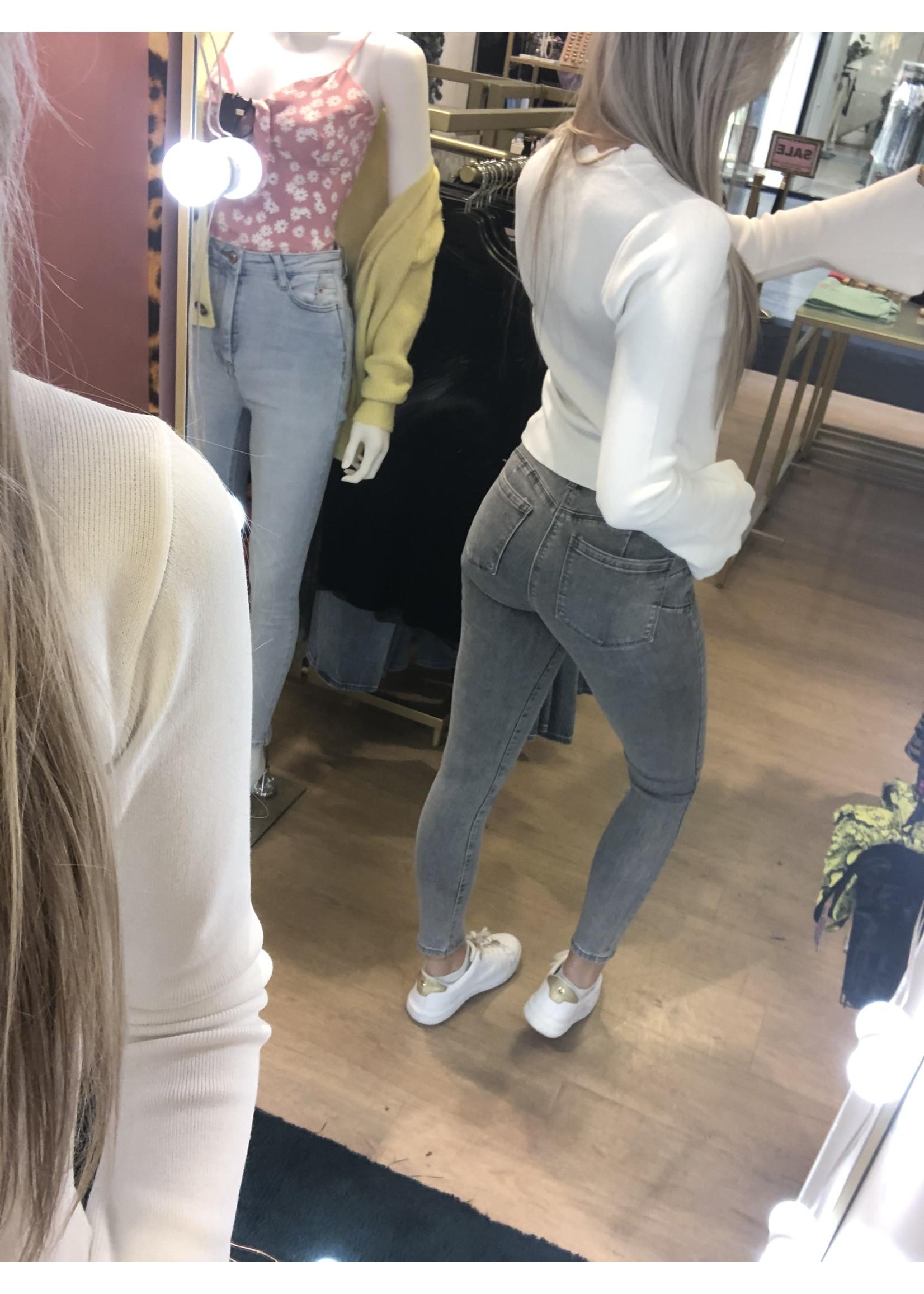 Ladybugs Push up jeans Lala GRIJS