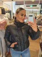 Ladybugs Bomber jacket leather look ZWART