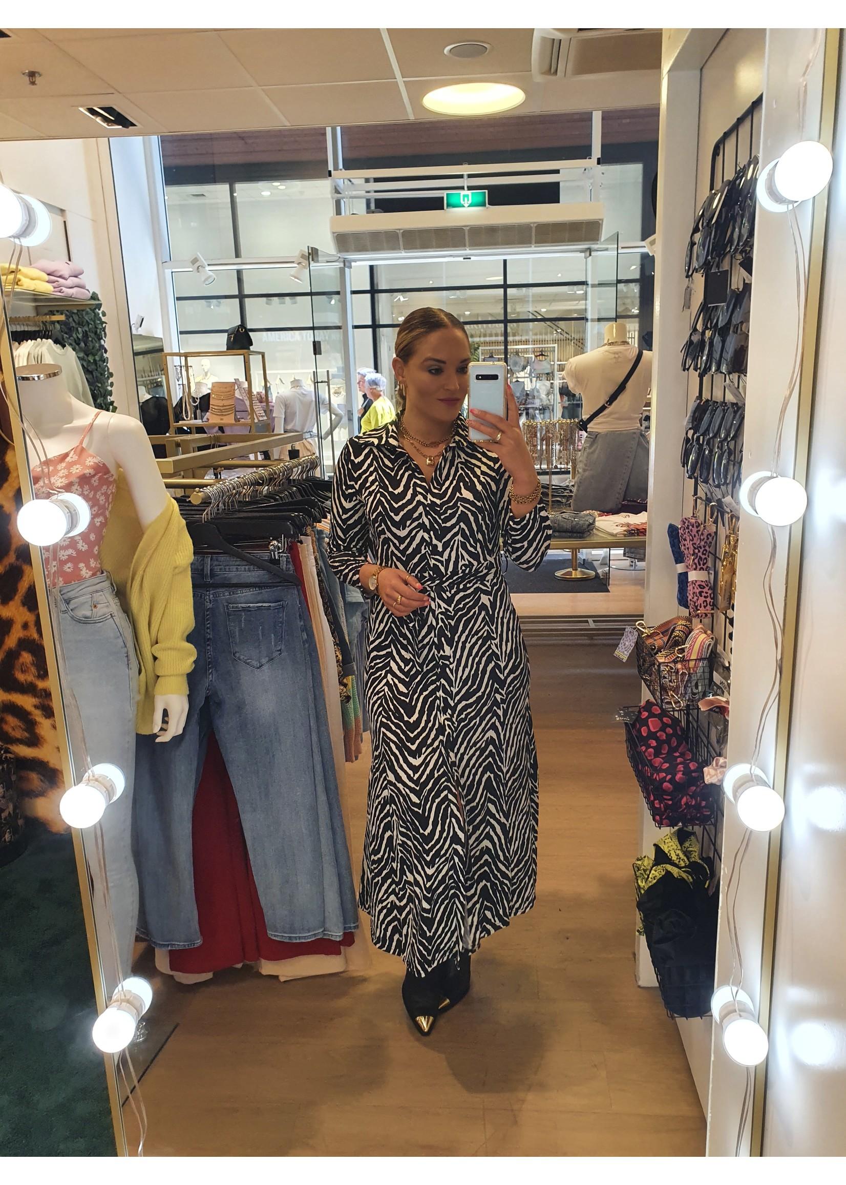 Ladybugs Lange travel jurk Jaimy ZEBRA