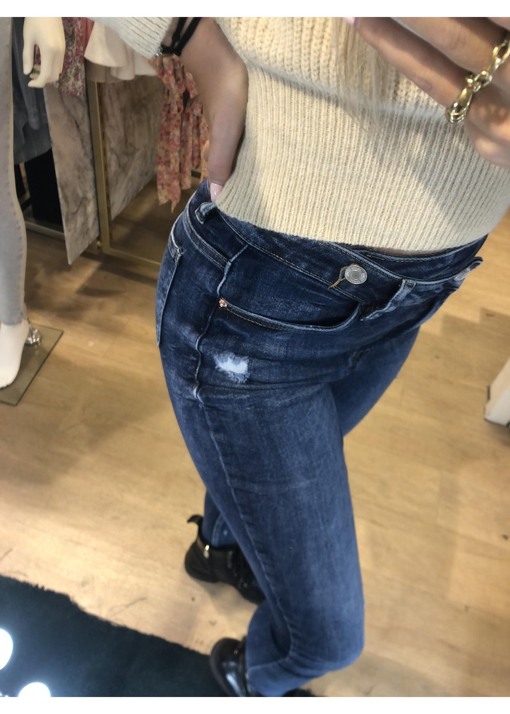 Ladybugs Queen hearts jeans zipper Evita BLAUW