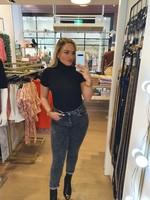 Ladybugs Mom jeans super stretch Stephanie ZWART