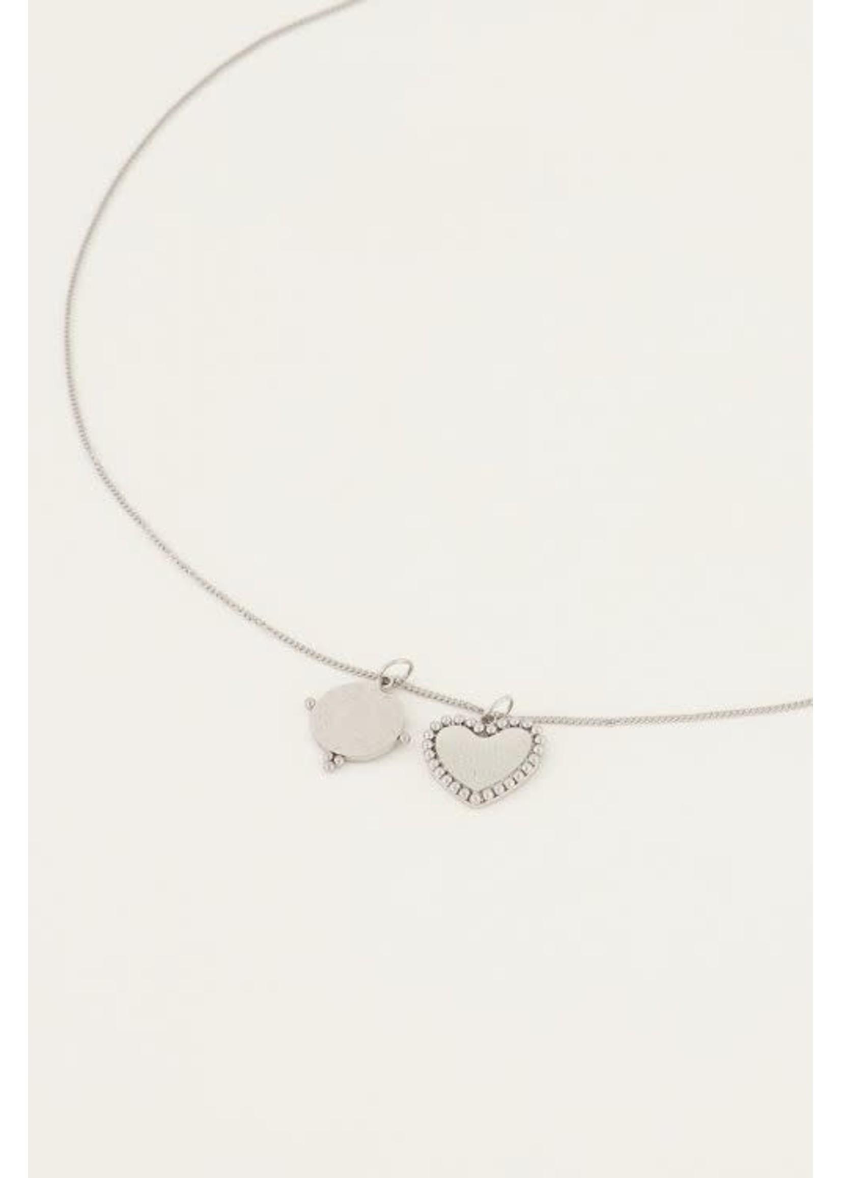 My Jewellery Ketting met bedeltjes rondje & hartje