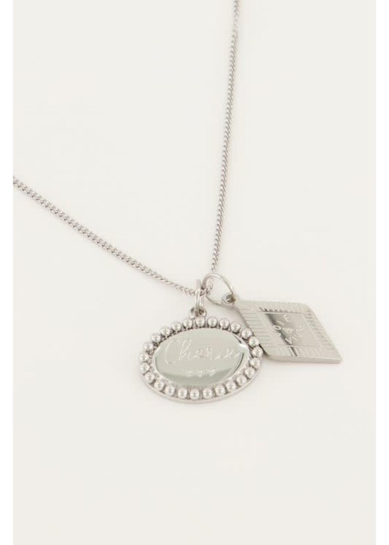 My Jewellery Ketting met bedeltjes ovaal & ruit