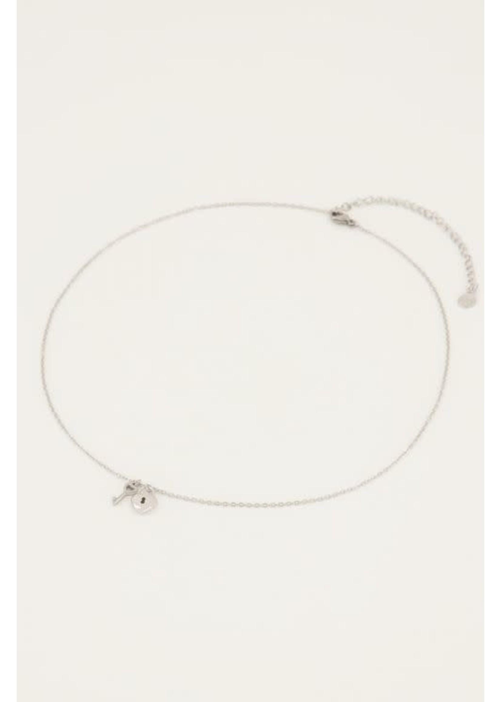 My Jewellery Ketting hartjes slot & sleutel