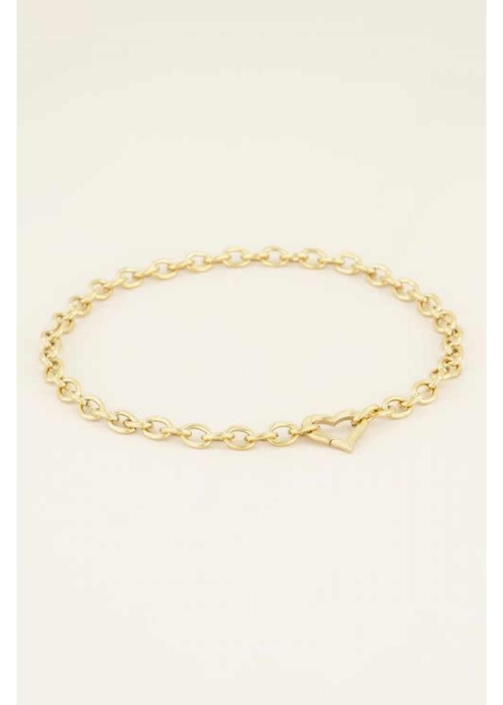 My Jewellery Schakelketting met hartjes sluiting