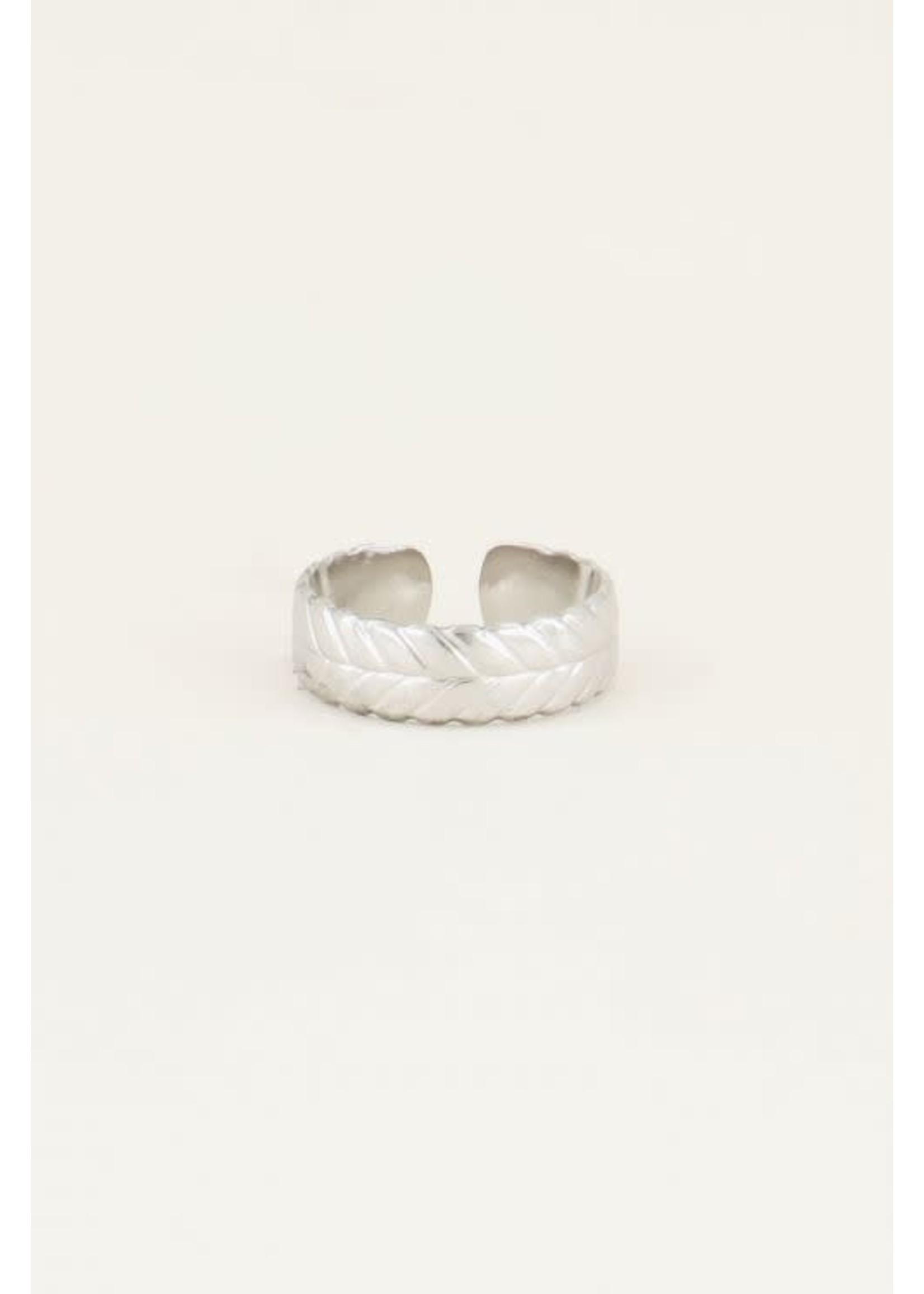 My Jewellery Ring met gevlochten patroon