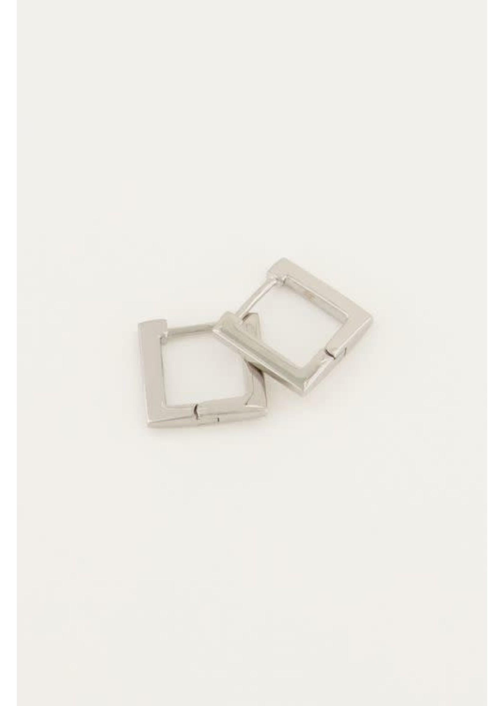 My Jewellery Oorbellen vierkant klein