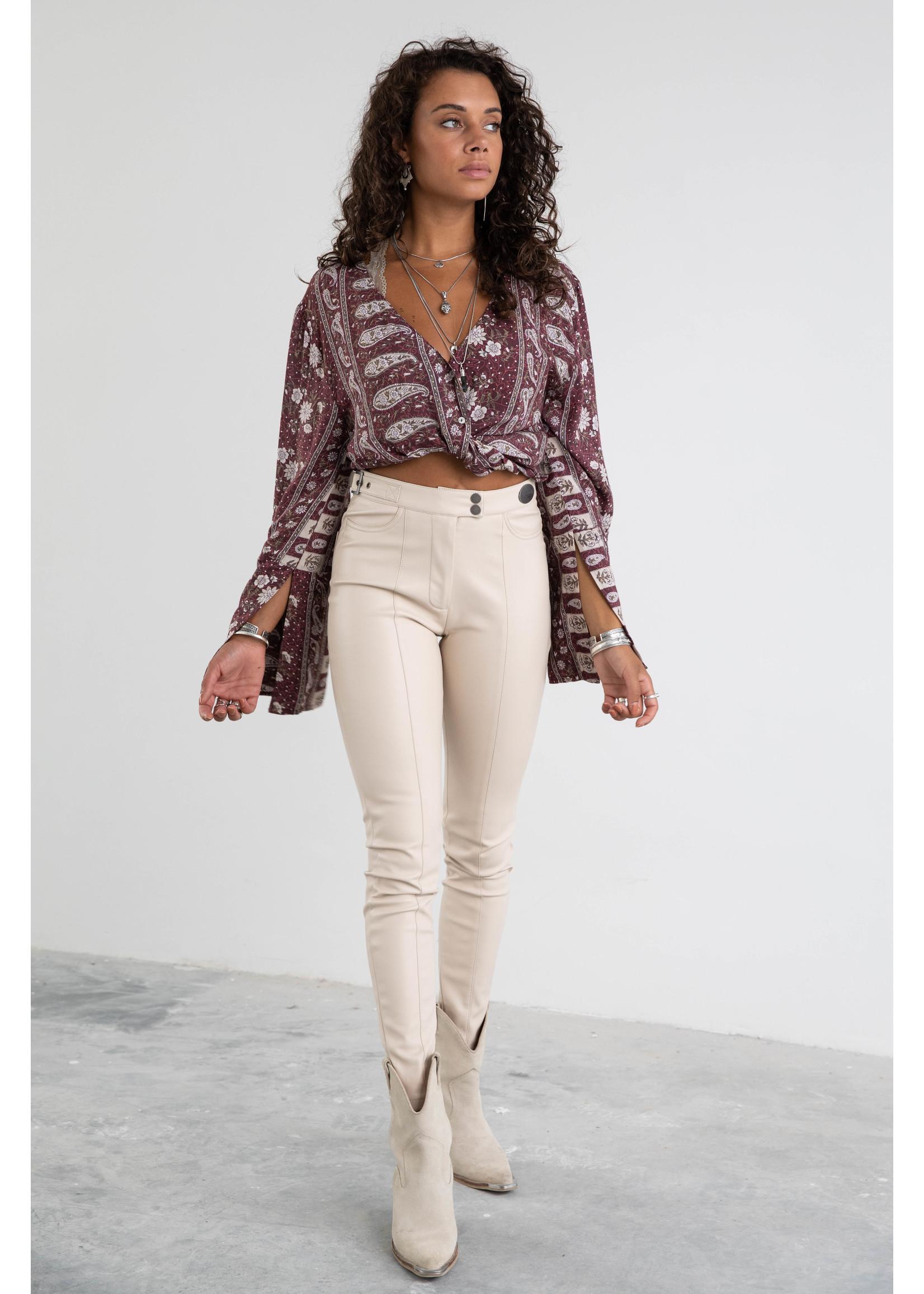 Moost Wanted Myana leather pants LIGHT BEIGE