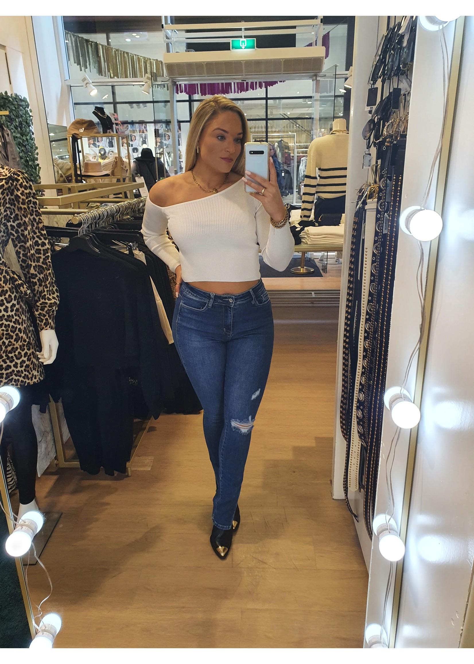 Ladybugs High waist jeans skinny split Suuz DENIM