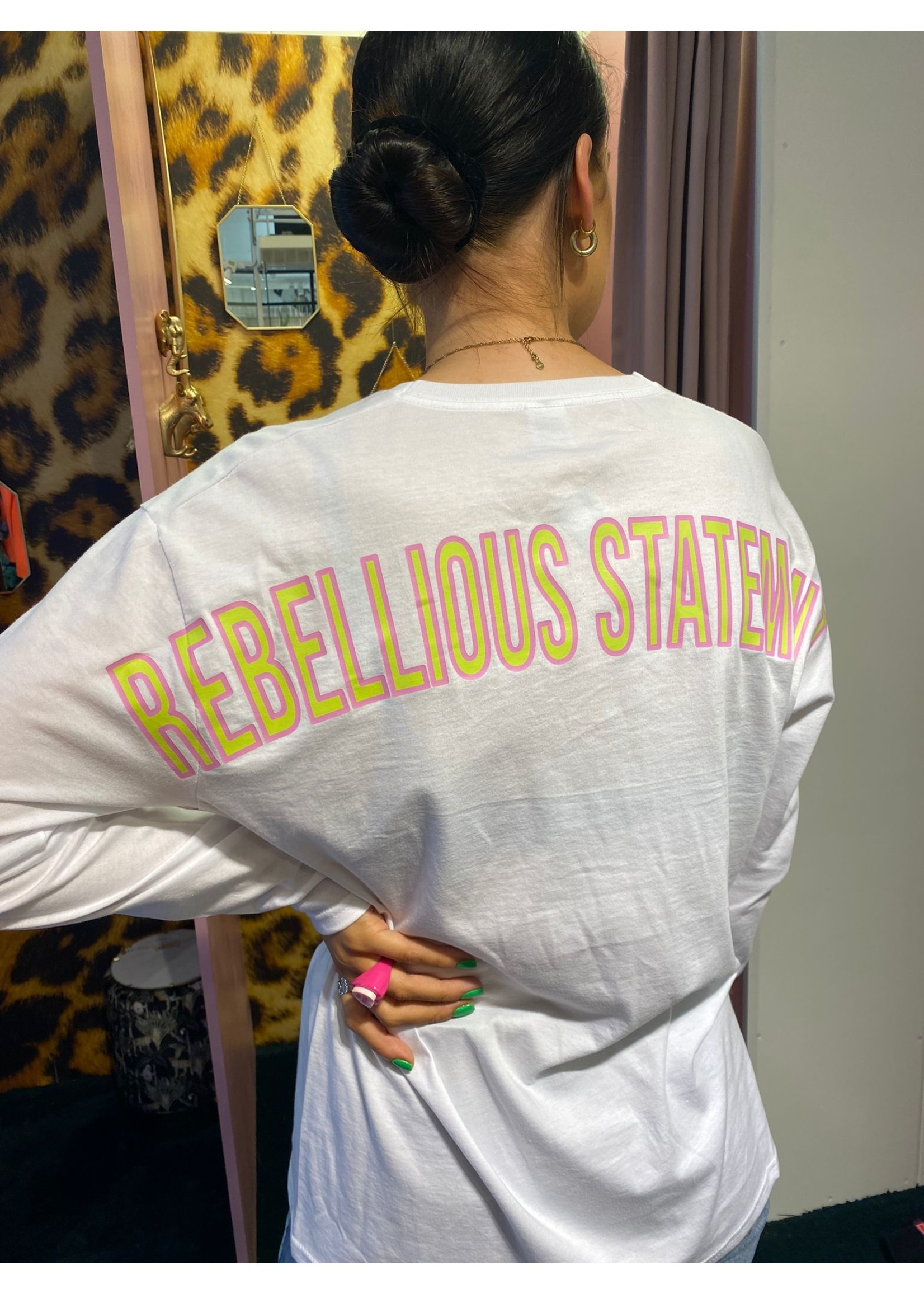 Ladybugs Branding long sleeve back print WIT