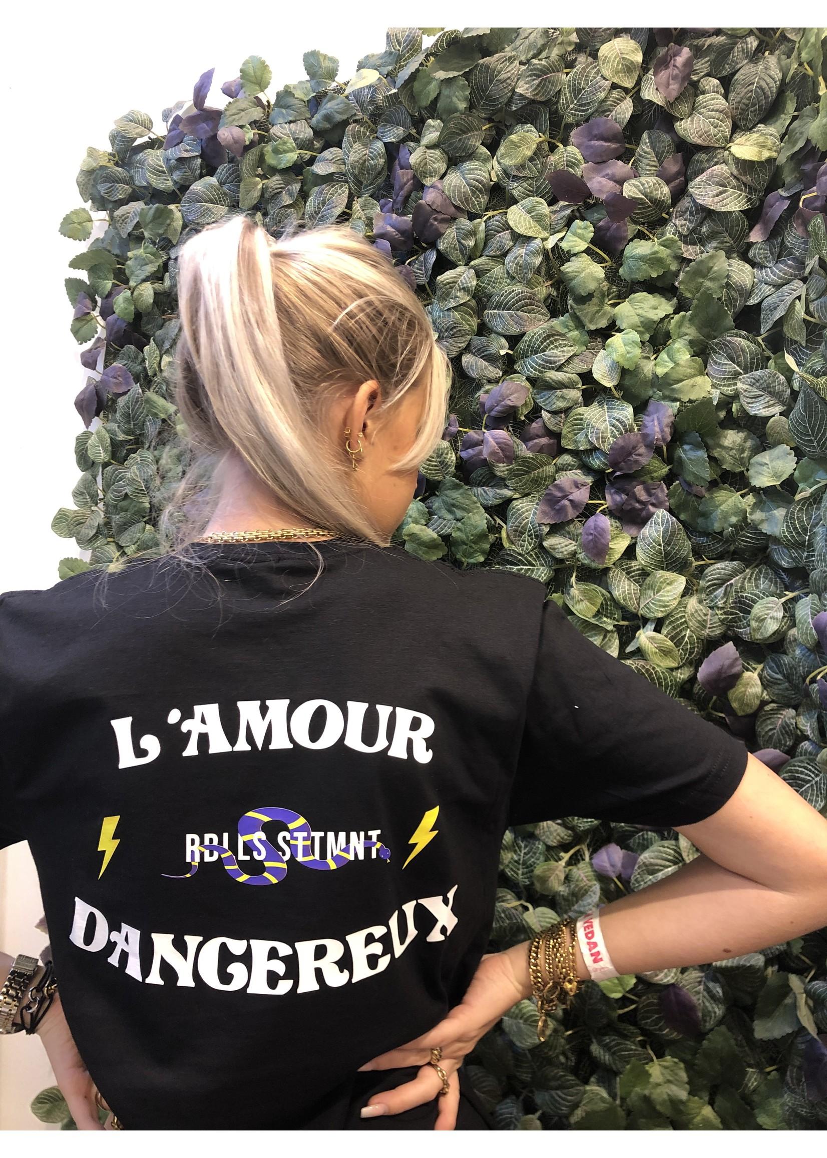Ladybugs Amour shirt back print ZWART