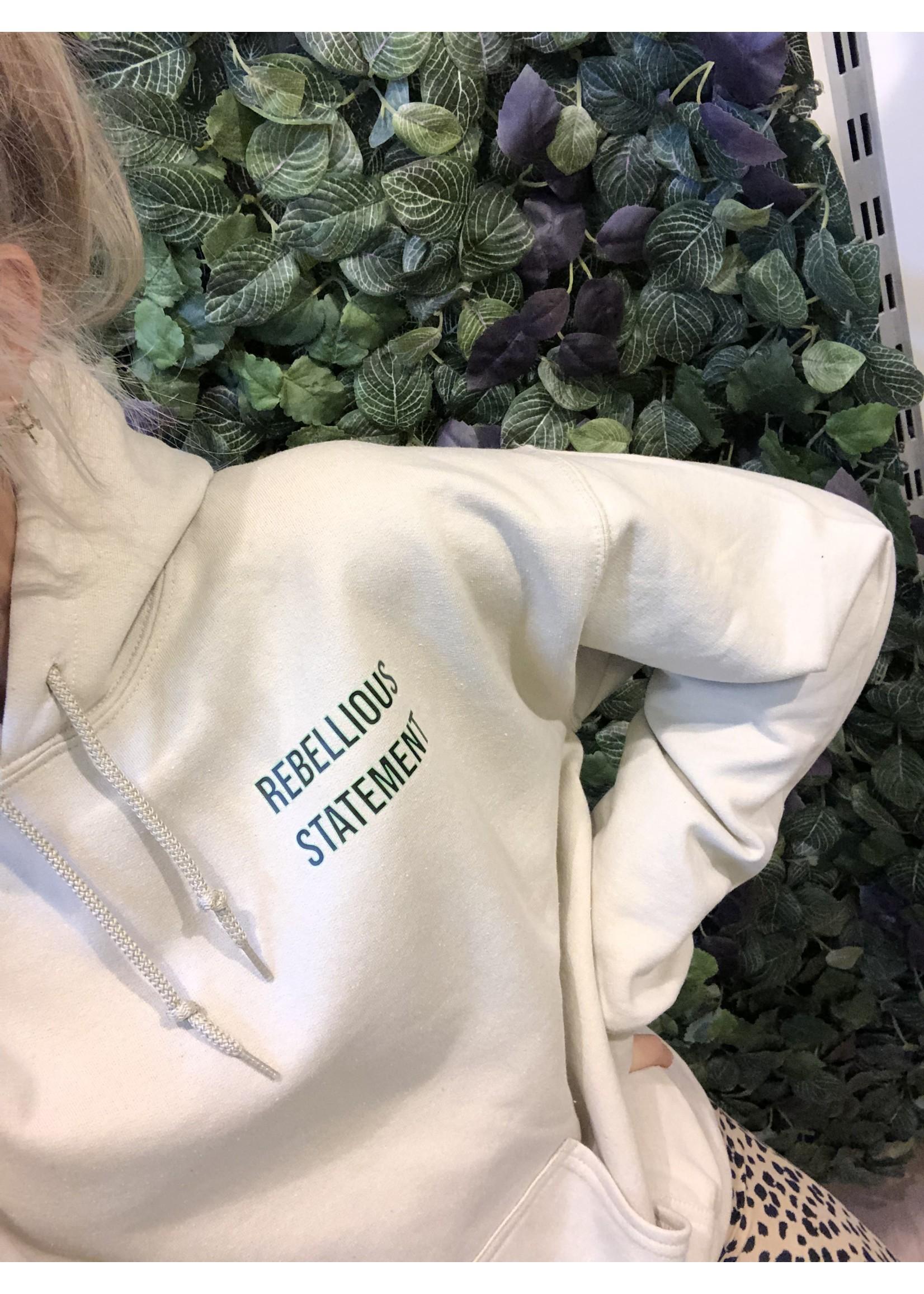Ladybugs Amour hoodie back print BEIGE
