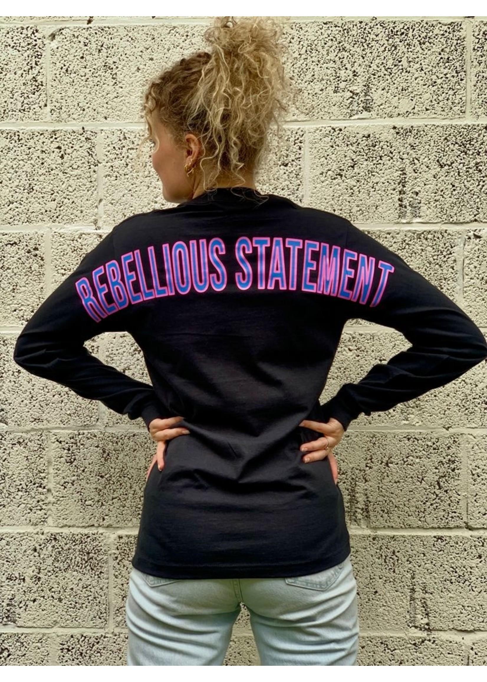 Ladybugs Branding sweatshirt back print BLAUW/ROZE
