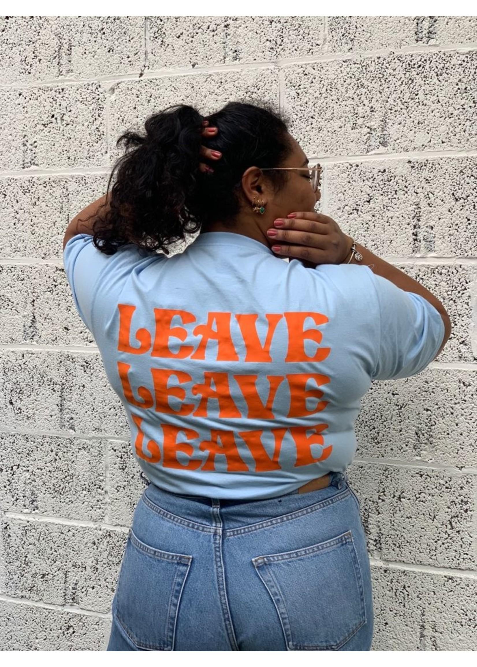 Ladybugs Leave shirt back print BABY BLAUW