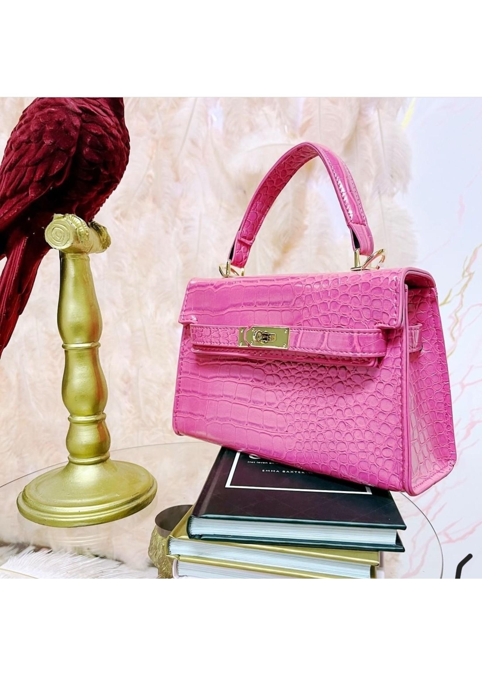 Pinned by K Daanie Bag Croco Pink