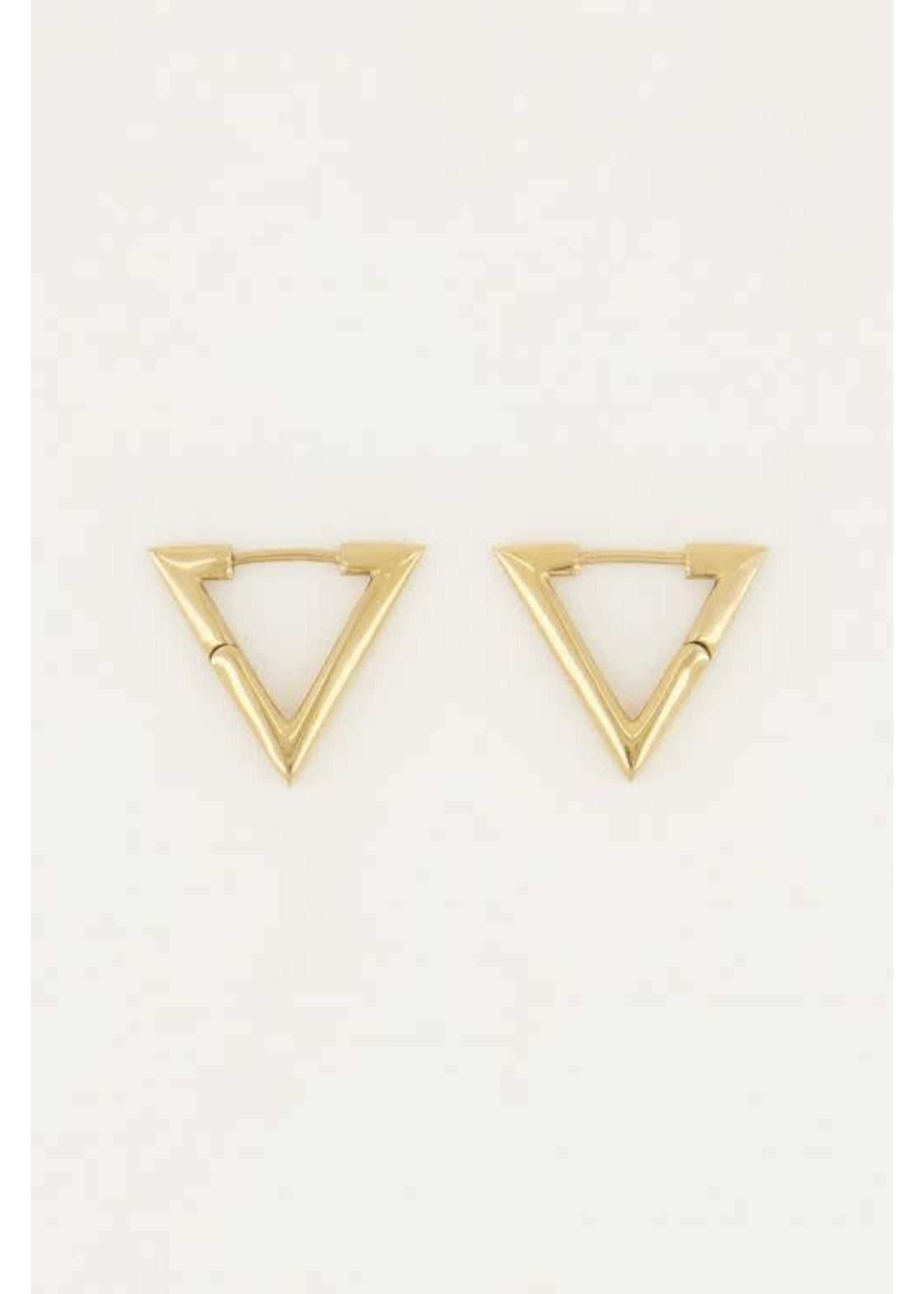 My Jewellery Oorbellen driehoek groot