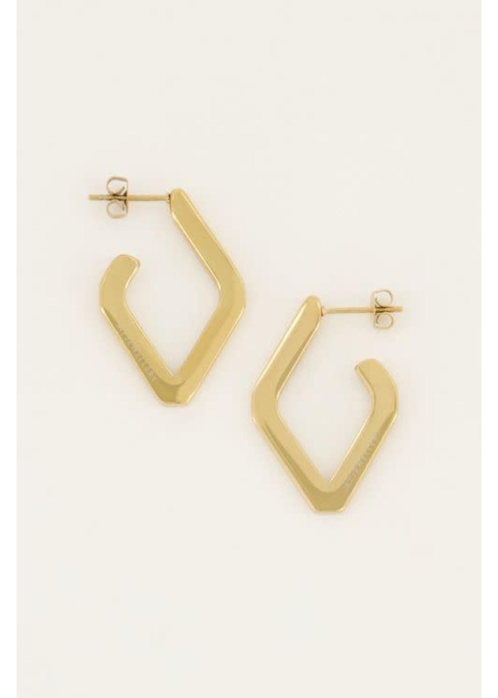 My Jewellery Shapes oorhangers ruit