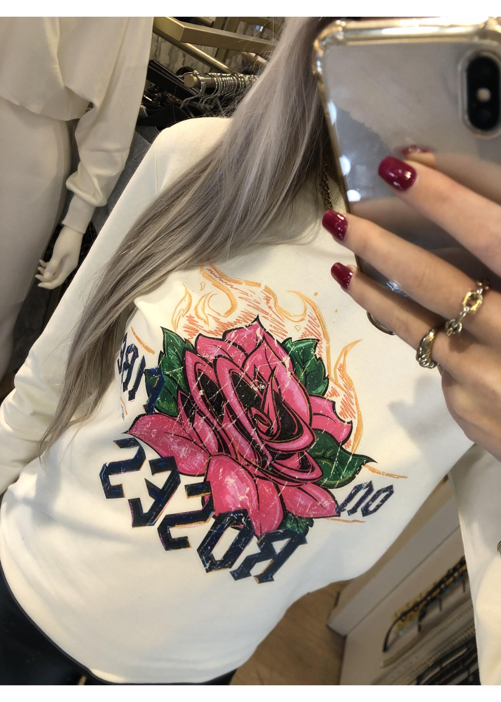 Pinned by K Roses trui BEIGE