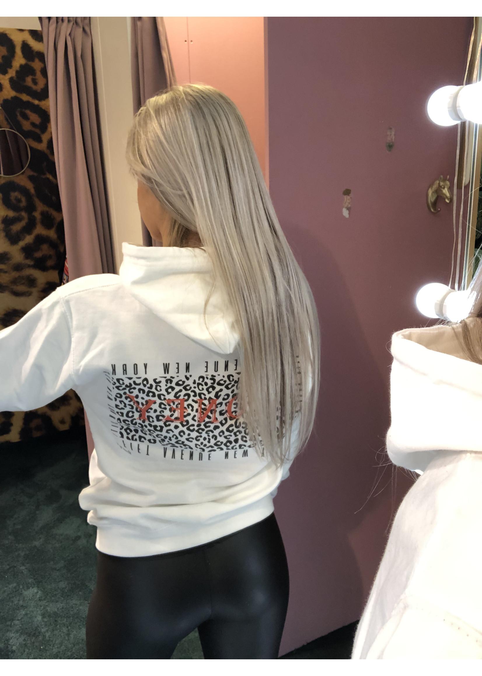 Pinned by K Honey hoodie back print WIT
