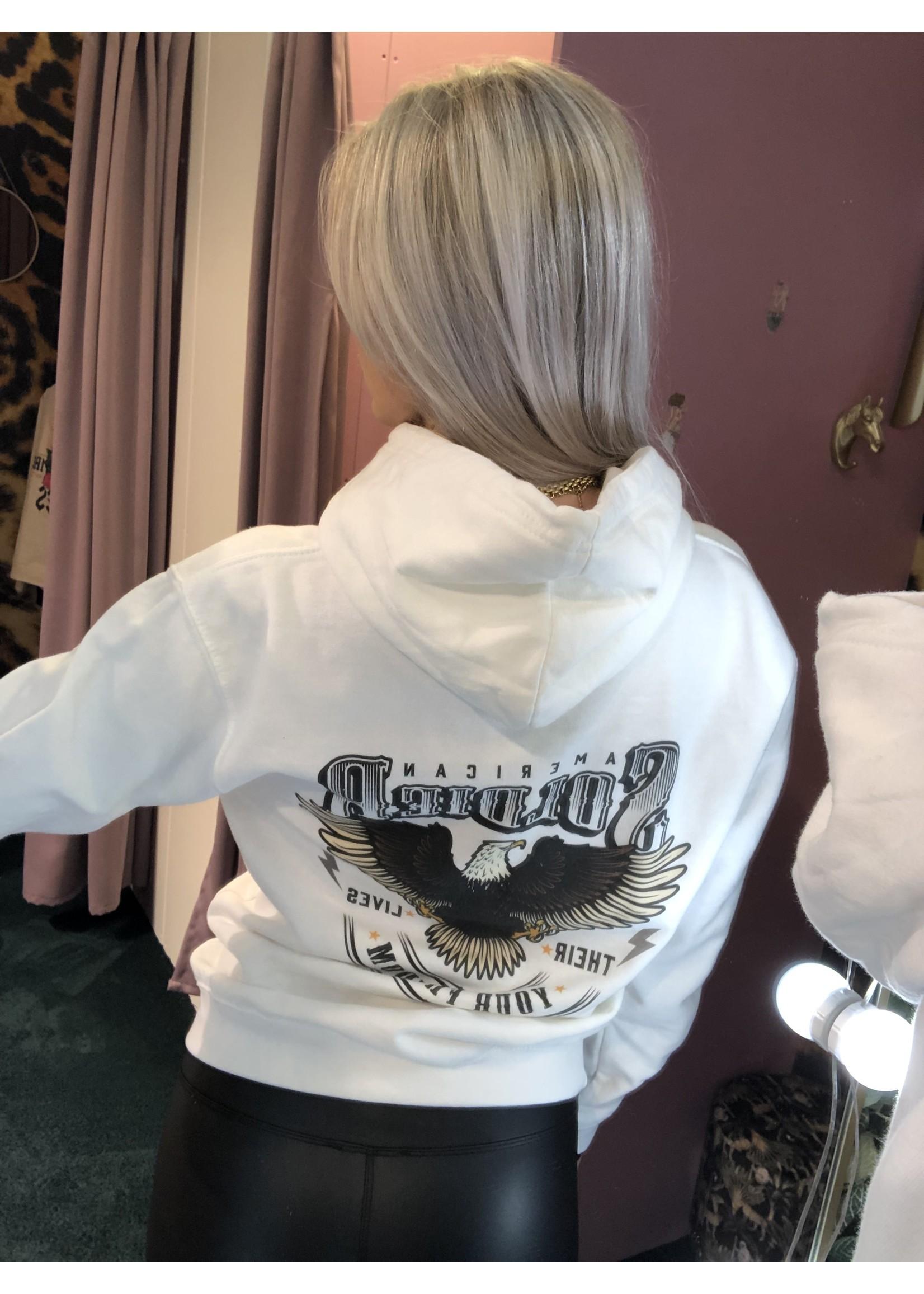 Pinned by K Soldier hoodie back print WIT