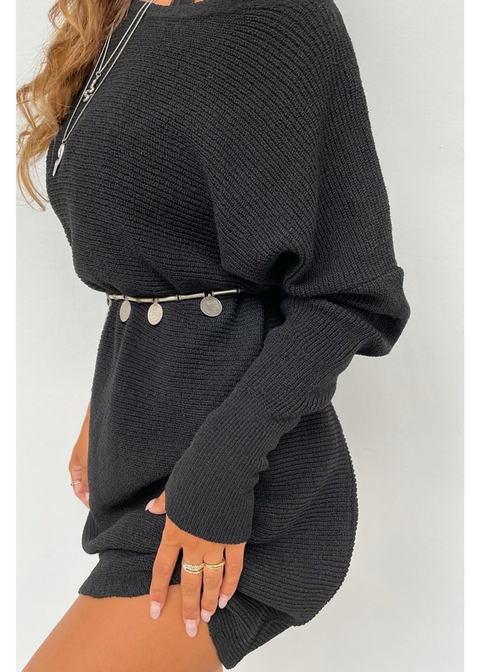 Moost Wanted Nola Knitted Dress ZWART