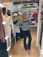 Ladybugs Stripe top Elise ZWART/WIT