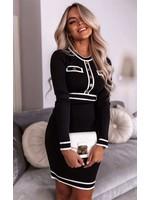 Ladybugs Chanel dress ZWART/GOUD