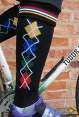 "Tudor TS910 "" Coolmax"" Long Socks with Diamond Jacquard Design"