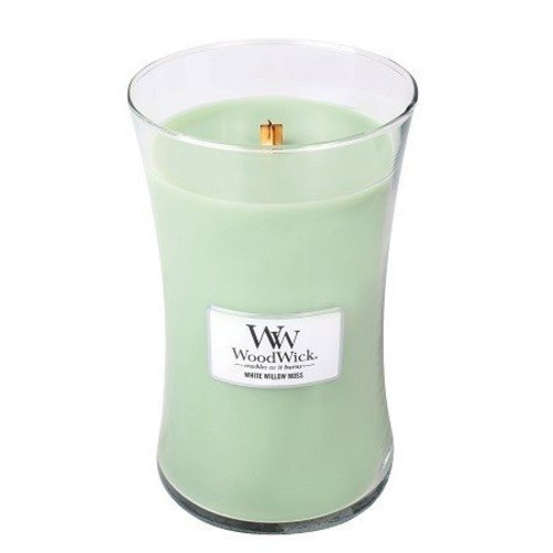 WoodWick WoodWick Large Candle White Willow Moss