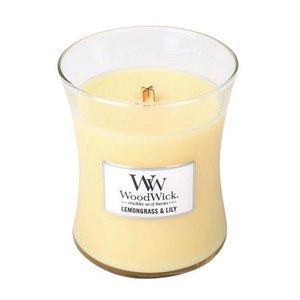 WoodWick WoodWick Medium Candle Lemongrass & Lily