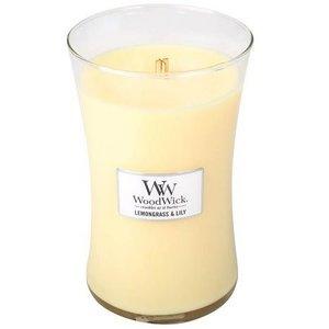 WoodWick WoodWick Large Candle Lemongrass & Lily