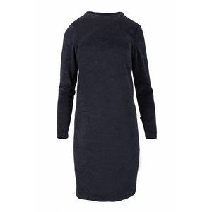 Zusss Zusss fluweel jurkje met turtleneck nachtblauw