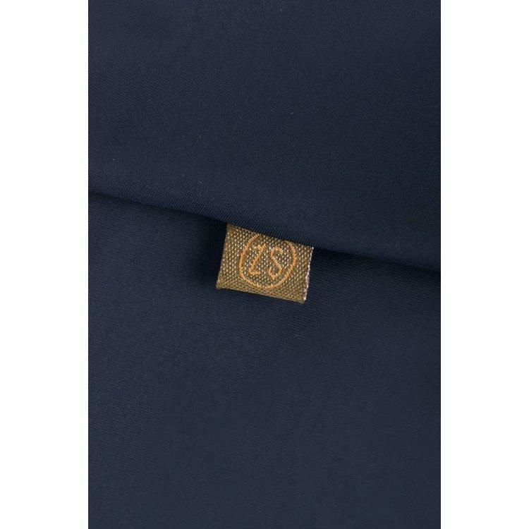 6314fbefb6e30a Zusss sjiek jurkje met ceintuur nachtblauw - Keygaaf-geWoonbasic