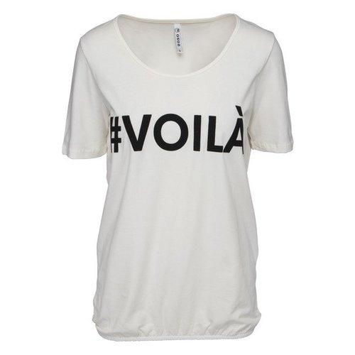 ZOSO ZOSO Voila t-shirt with print off white/black