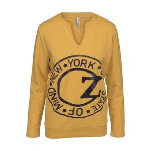 ZOSO ZOSO Denver sweater with tech print oker/navy